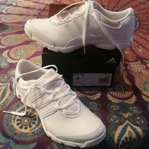 Adidas Leather !!! Three Stripes White Shoes 9
